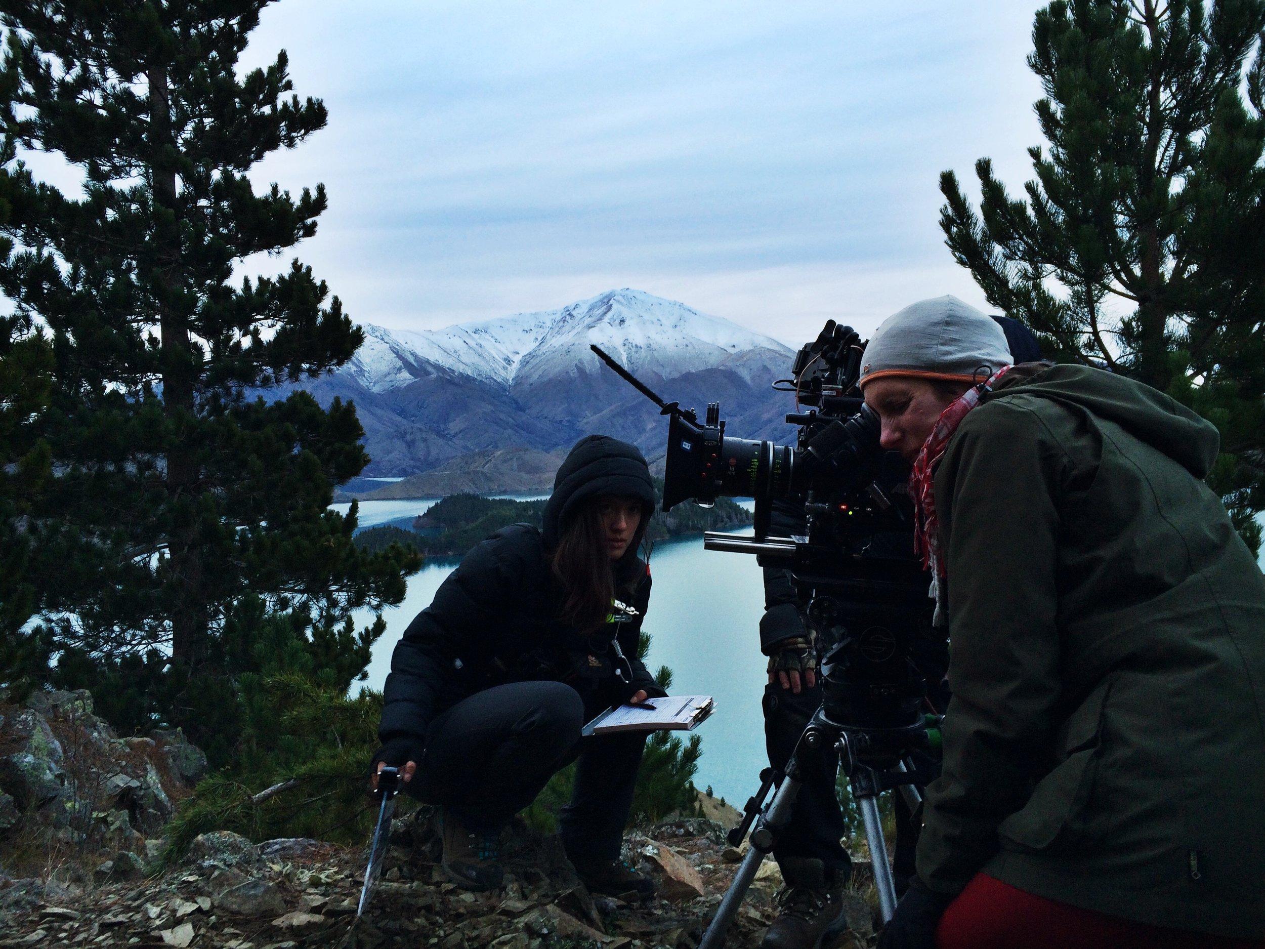 Second AC Asuka Sylvie, Cinematographer Ari Wegner