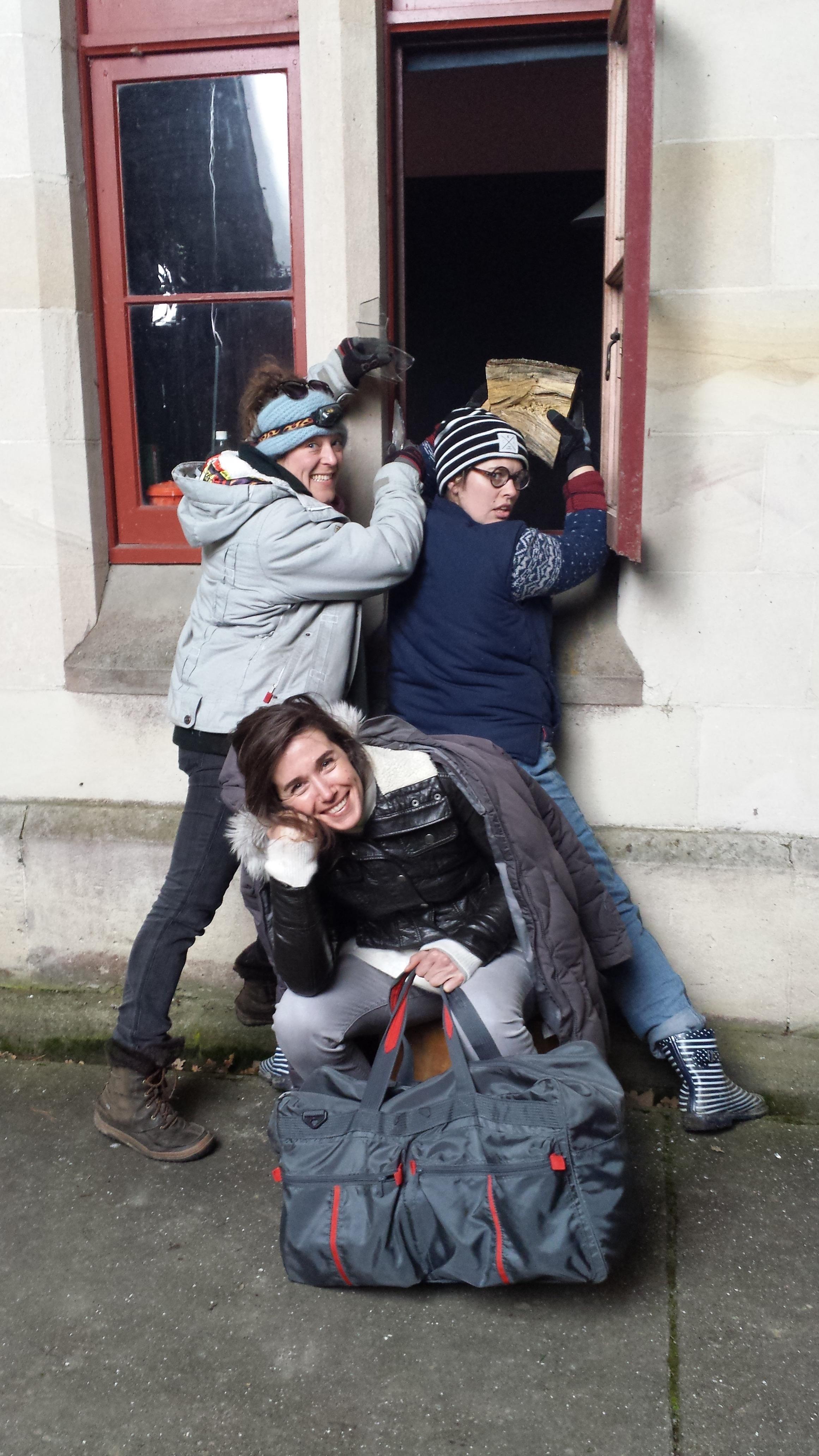 Actor Arta Dobroshi, Art Director Sophie Janus, Production Designer Sophie Durham