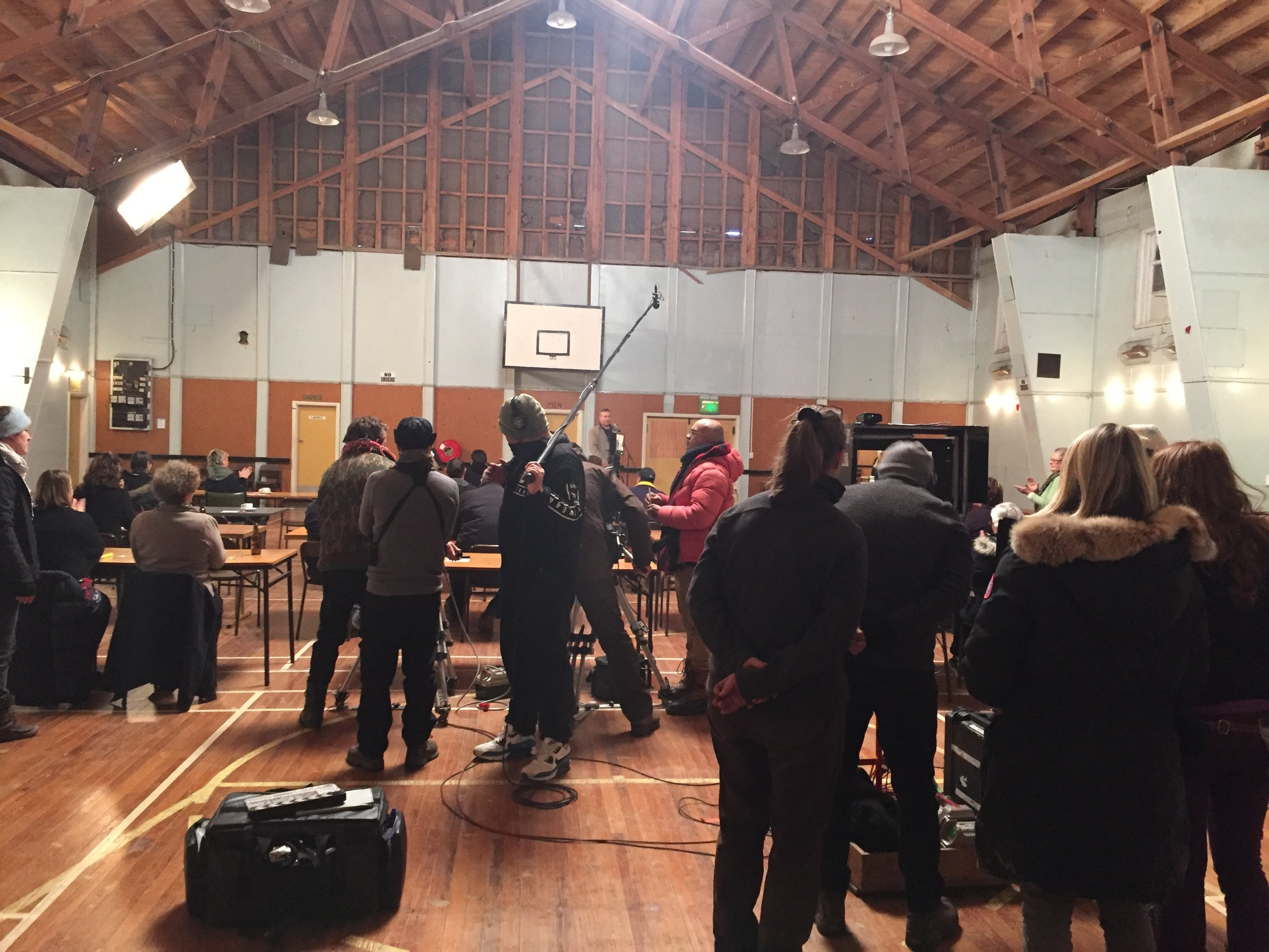 Filming in Otematata Hydro Hall