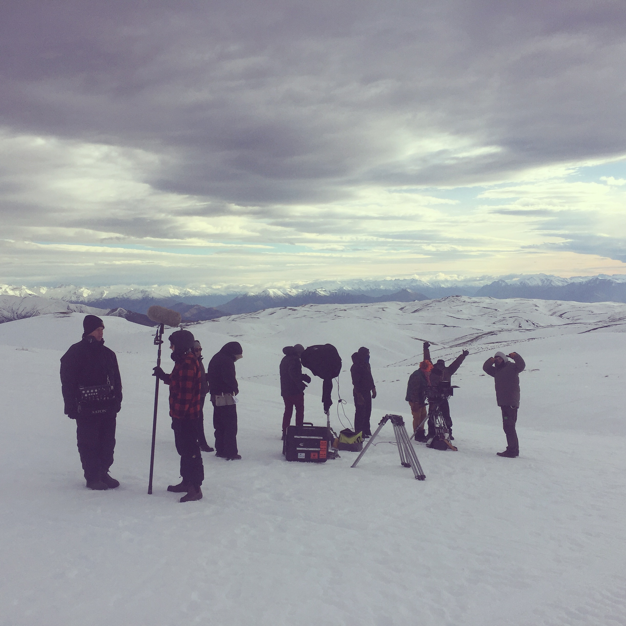 Filming on the snow