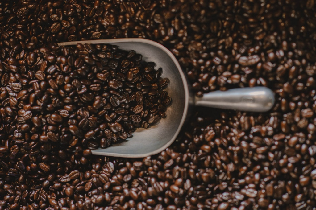 Freshly roasted coffee bean varietals are blended together to build Oso Negro's signature brews.  Courtesy Oso Negro