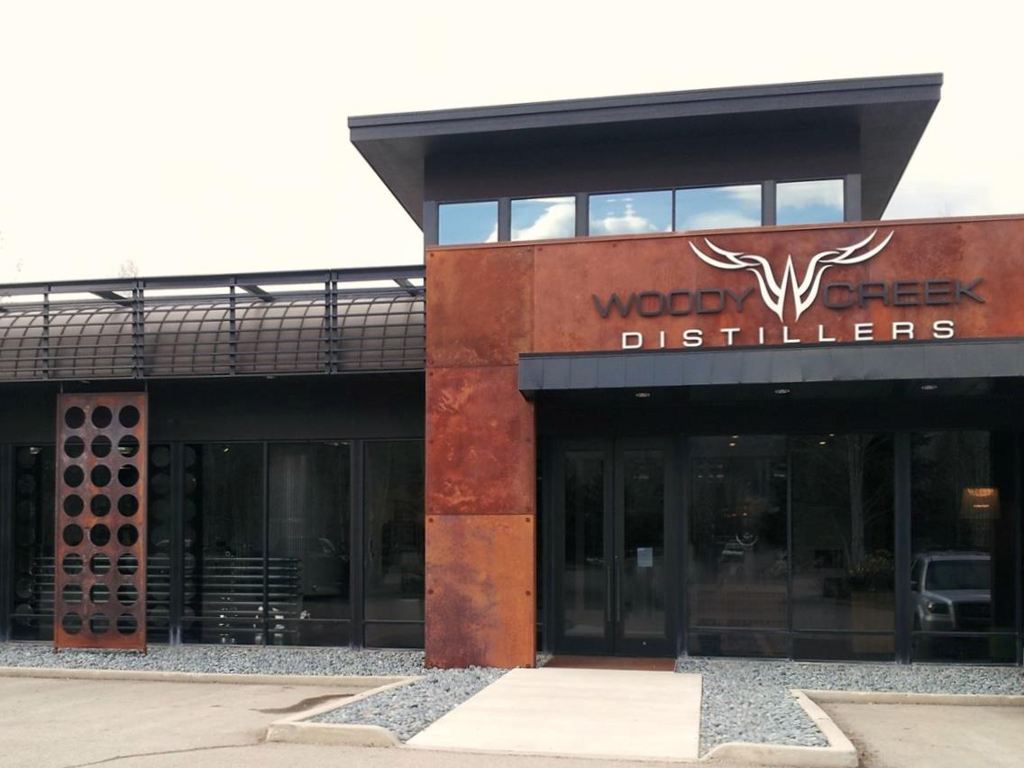 Woody Creek's steel, concrete and glass distillery, tasting room and event space are located in Basalt, Colorado, about thirty minutes from  downtown Aspen .  © Ski Travel Go