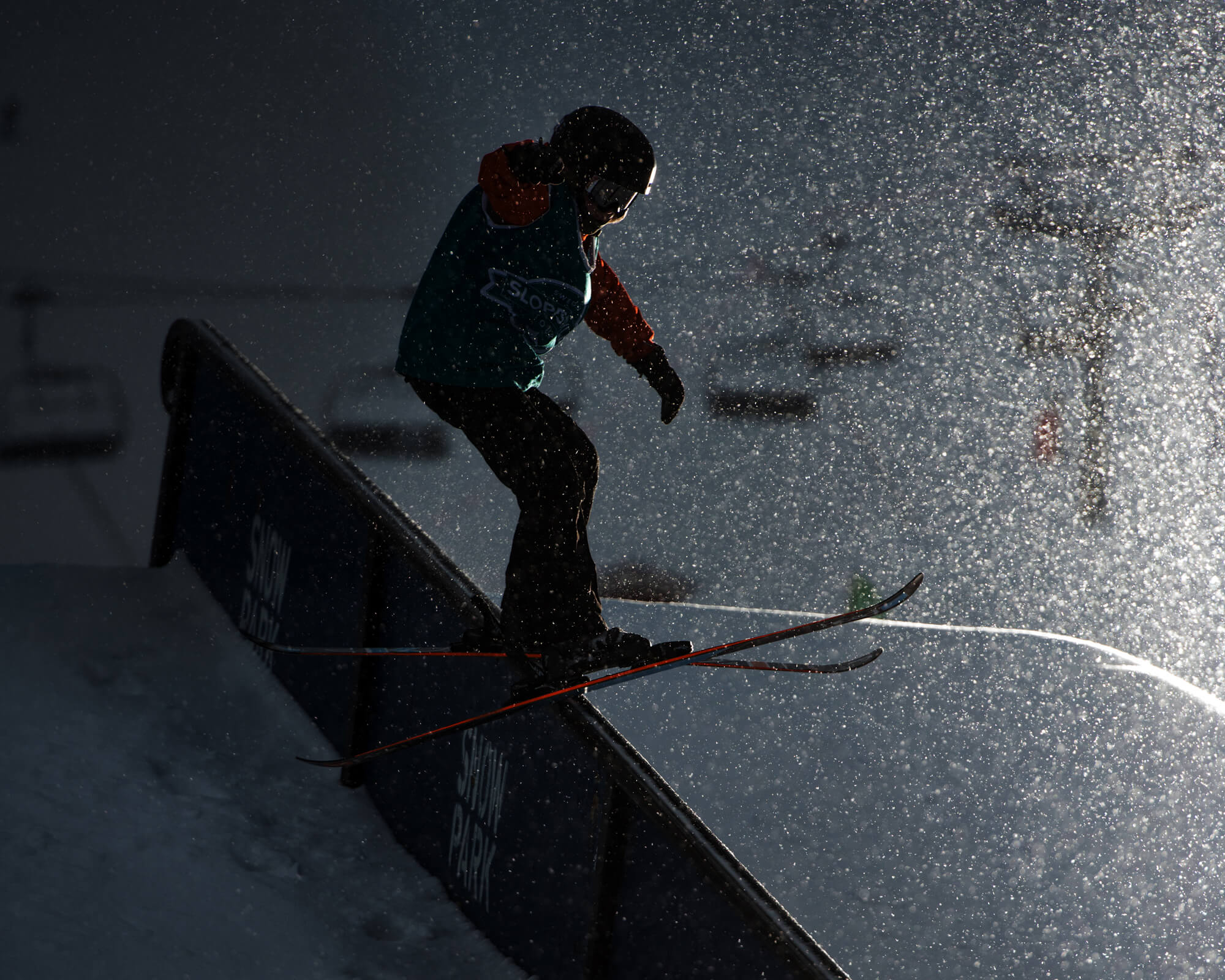 Daylight hours are short here during December and January, but the action keeps rolling after dark.  Daniel Berhnstahl |    Åre 2019