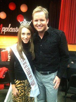 At an appearance as Miss Walterboro Teen with the wonderful Chaz Ellis! Cant wait for Miss South Carolina Workshop Weekend!