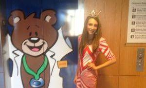 Grace volunteering at Greenville Children's Miracle Network Hospital!