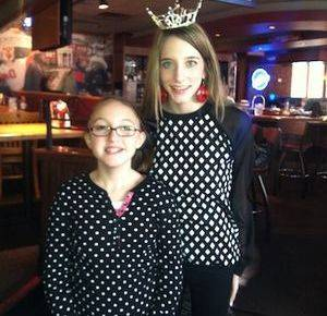 """Grace and Ashton at the """"Pancake Breakfast"""" fundraiser! Thank you to everyone who came out to support this great cause!!! We had a blast!"""
