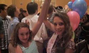 """Grace and her beautiful Miss South Carolina princess dancing at the """"Come Dream With Me"""" prom!"""
