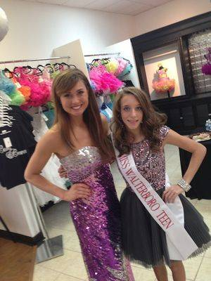 With Miss South Carolina, Brooke Mosteller, at the grand opening of Curls and   Crowns.