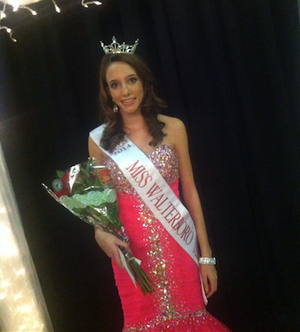 Grace right after her crowning moment for Miss Walterboro Teen. She is looking so forward to all of the great memories she will make on this journey!