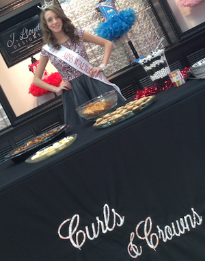 """race appearing at Curls & Crowns Grand Opening. She brought a   few of her tasty """"Grace's Gourmet"""" goodies!"""