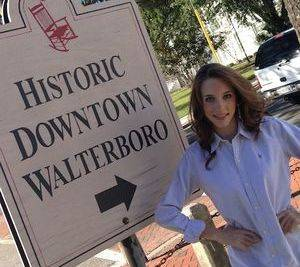 Grace in her beautiful town of Walterboro. What a great town to represent!