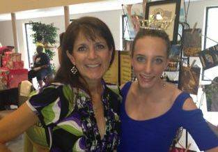 Grace spending time with Stephanie Trotter from WYFF at a charity event for the Children's Miracle Network Hospitals