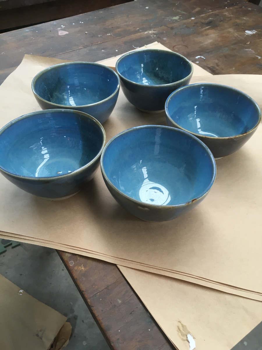 Blue Cloud Bowls - SOLD