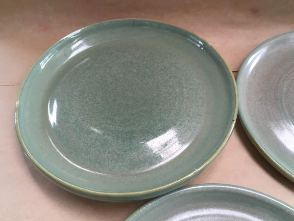 Stoneware flat Dinner Plates - $30 each