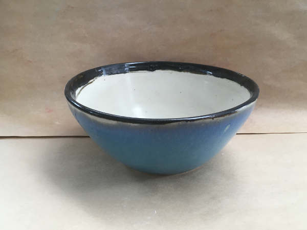 Blue and White Salad Bowl - $65