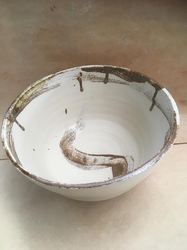 Illmenite Brush Salad Bowl -SOLD