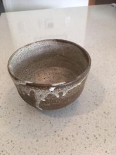 Chocolate brown clay Chawan - $40