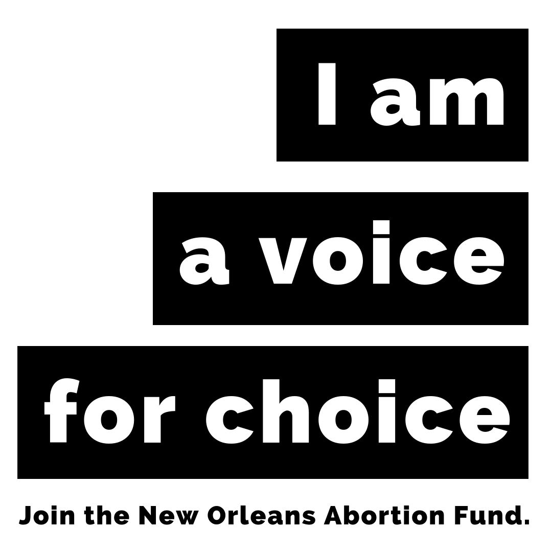 - 2019 represents a moment of heightened attacks on our rights and access to abortion in Louisiana. NOAF has been fighting to protect our clinics and our rights since 2012, and we will not back down.Whether this is the first time you've heard of our work, or whether you've been supporting NOAF since our founding, we need all members of our community to step up and join our efforts.This is the moment to assert proudly and visibly: I am a voice for choice. NOAF will always stand as a voice for choice in Louisiana and across the Gulf South region. We call on you to #joinNOAF and show us how you are a voice for choice.