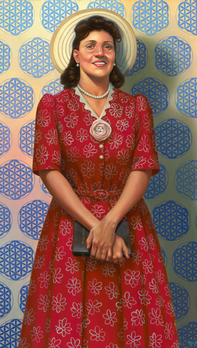 © 2017 Kadir Nelson. Collection of the Smithsonian National Portrait Gallery and National Museum of African American History & Culture, Gift from Kadir Nelson and the JKBN Group, LLC
