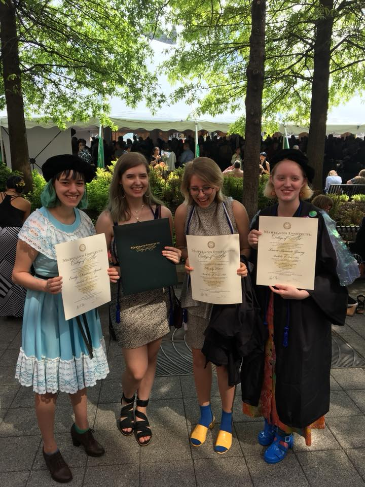 With our real diplomas!