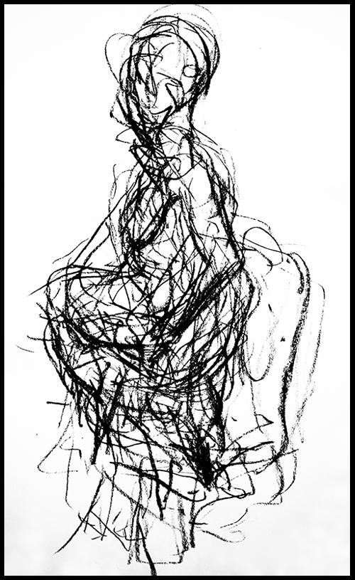 Gina DeCagna, Life Drawing - Subliminal Sensory Study #3.jpg