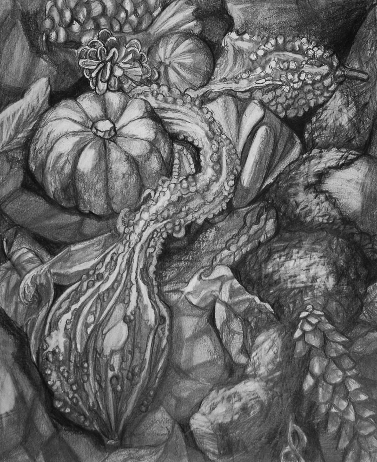 Gina DeCagna, Writhing Gourds, 2012.jpg