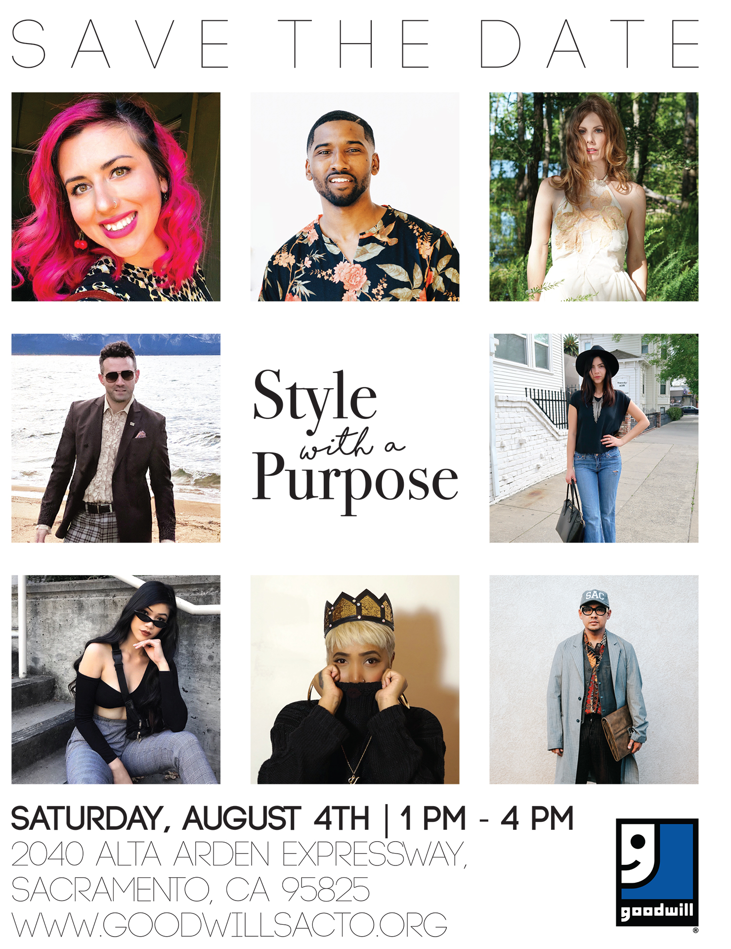 Goodwill Style With a Purpose - Join Lady Katherine on Saturday, August 4th from 1pm to 4pm for Style with a Purpose: Back to School edition! She will be joining several local stylists at the Goodwill Alta Arden store to share tips for finding and assembling top fashions at bargain prices. Come to chat with these experts and get personalized advice on how to make thrifting fun and rewarding. You will have a chance to browse the shelves as well as the special racks of merchandise that have been curated by each of the stylists.Light snacks and beverages will be available and admission is free.