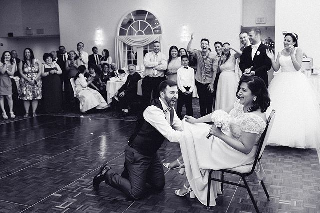GARTER TOSS! 🎉😍🤗 📸 by: Kristin  Visit us at www.shortnorthweddings.com #shortnorth #weddingphotographer #weddingphotography #columbusphotographer #columbuswedding #columbusweddings #614 #614wedding #columbusohio #wedding #theknot #knotwedding #weddingwire