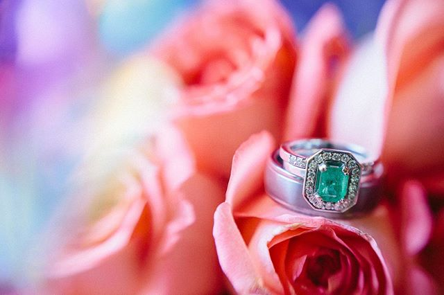 Dreams of Emerald Green 💚📸 by: Dan  Visit us at www.shortnorthweddings.com #shortnorth #weddingphotographer #weddingphotography #columbusphotographer #columbuswedding #columbusweddings #614 #614wedding #columbusohio #wedding #theknot #knotwedding #weddingwire #weddingring #details #greendreams #love #forever #capturingmoments