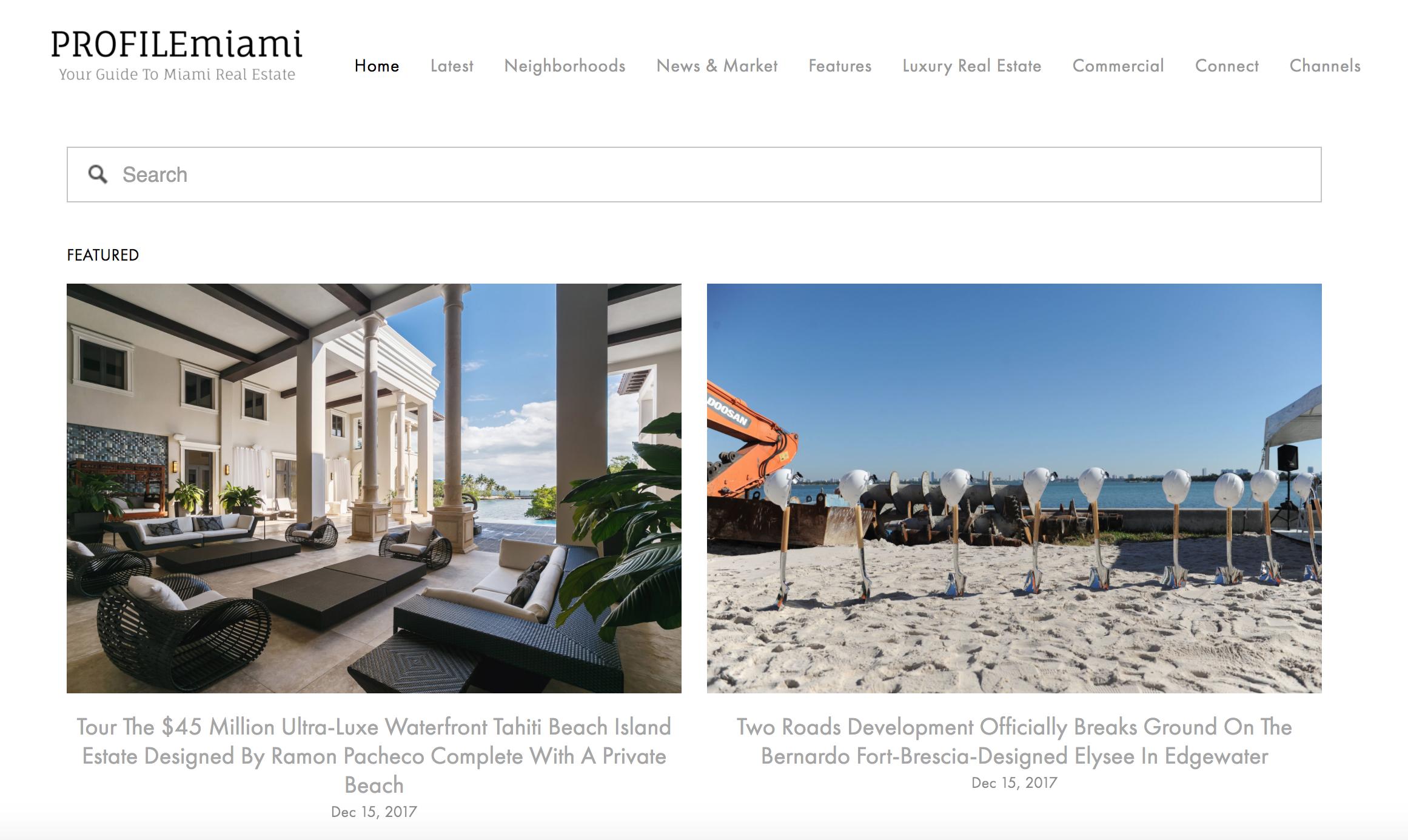 PROFILEmiami Real Estate News