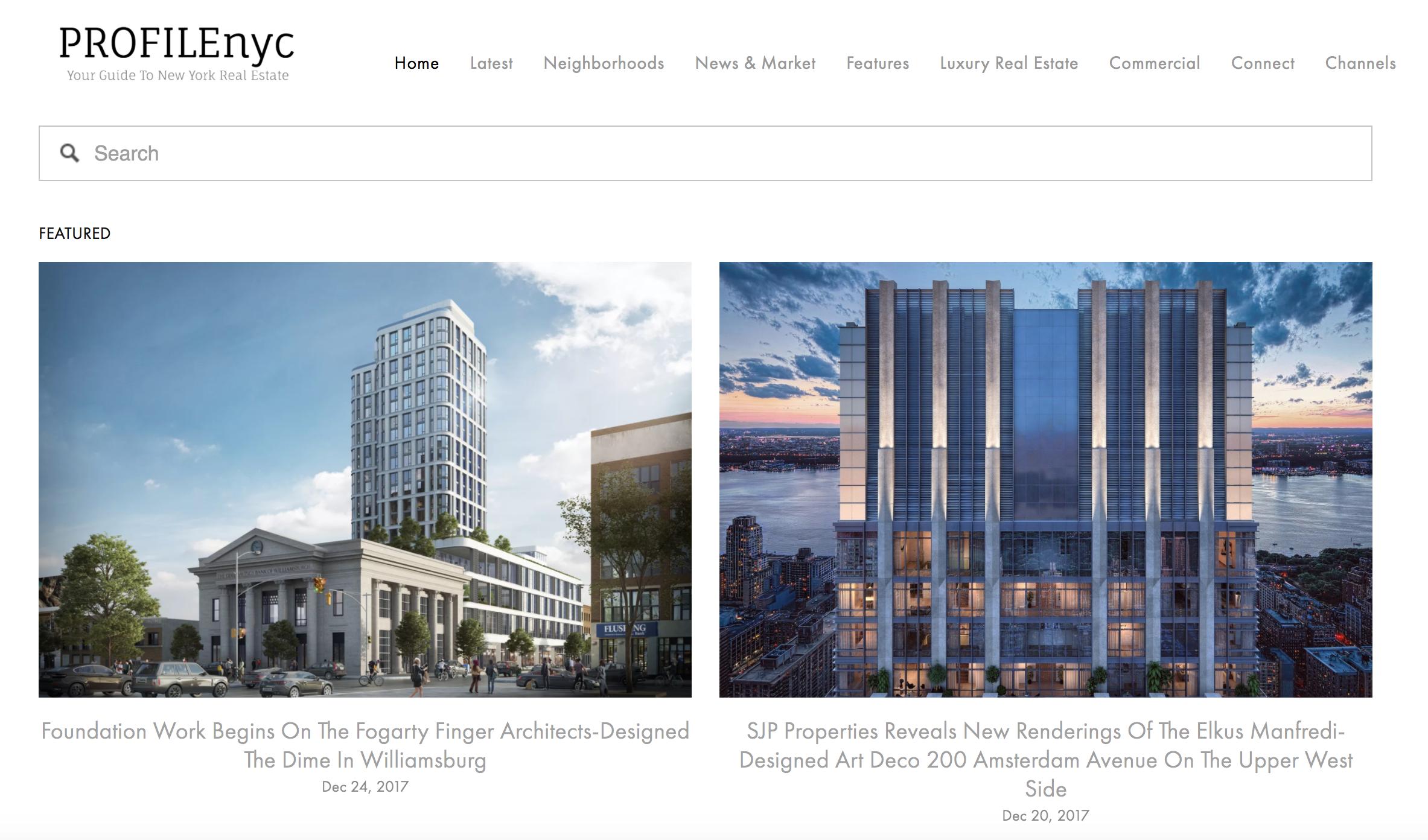 PROFILEnyc New York Real Estate News