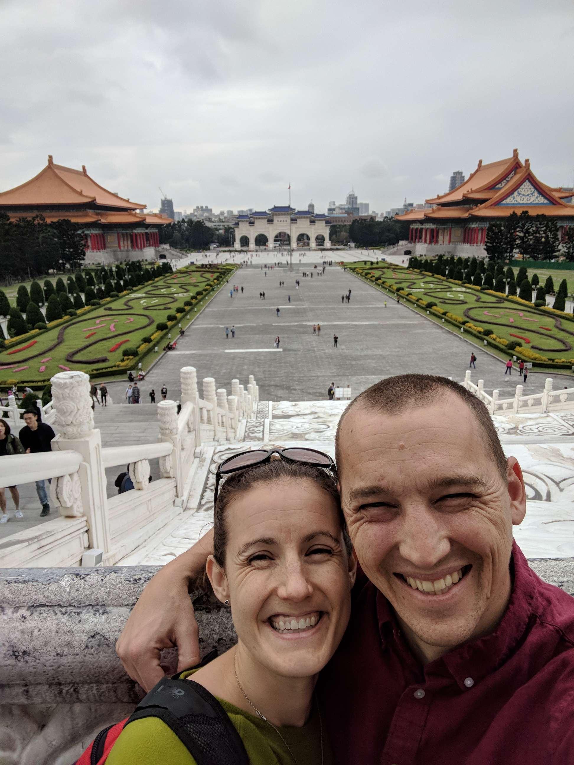 Amelia and David in Taiwan, New Year's 2018
