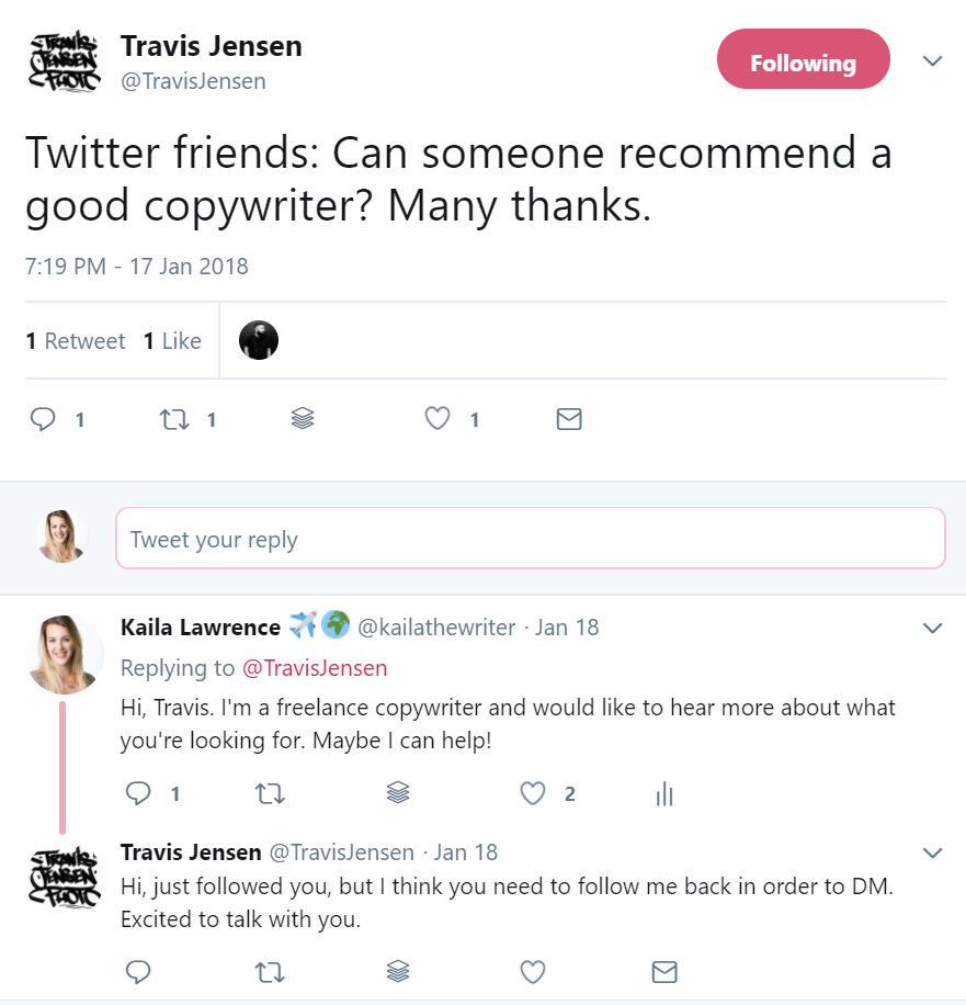 This guy ended up being a $500+ deal and is asking to hire me for a second project.