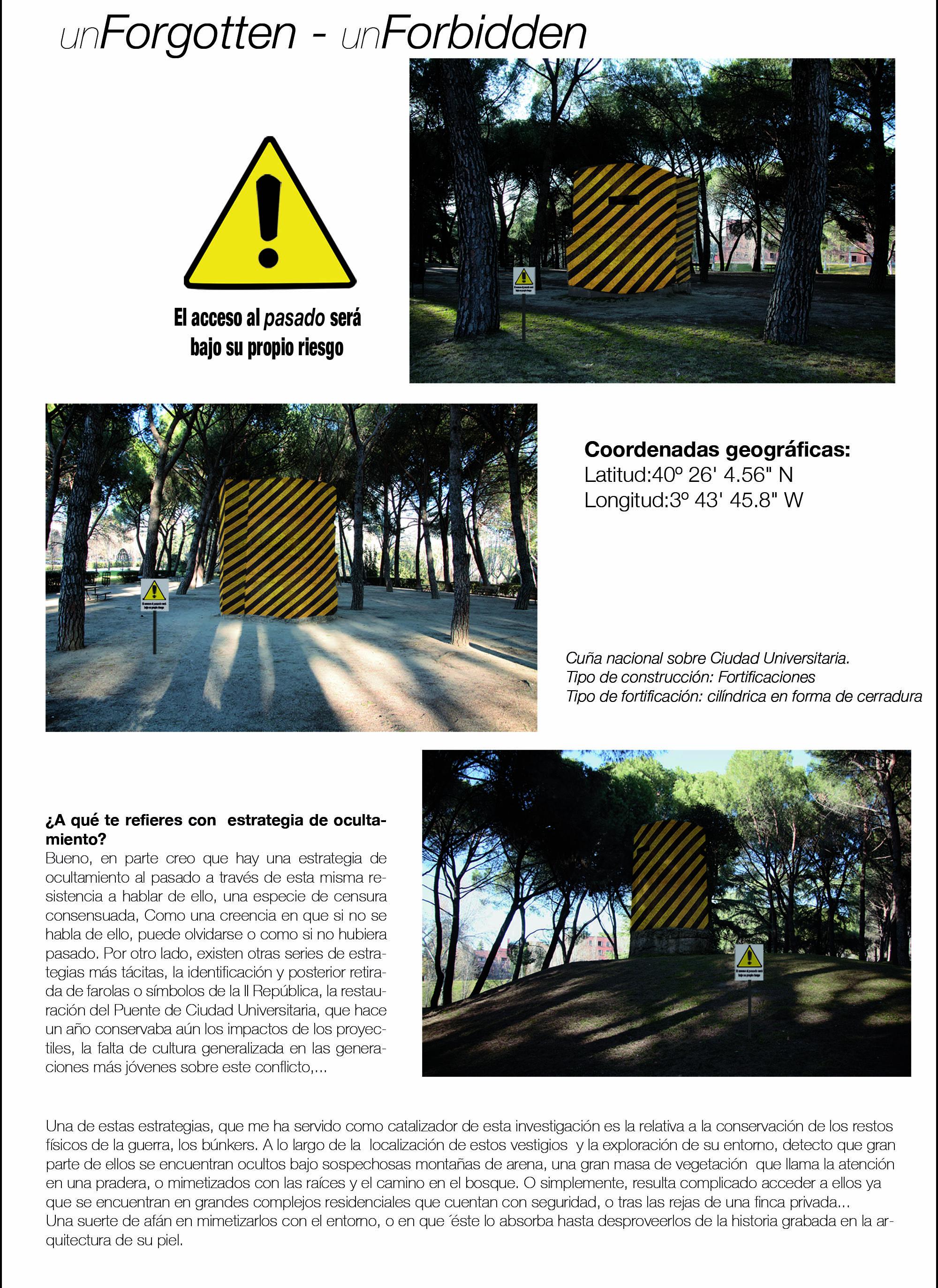 Conmemoria (2015)/ LA ISLA UTOPIA:PAISAJES DE UNA GUERRA exhibition at Casa de Velázquez, Madrid