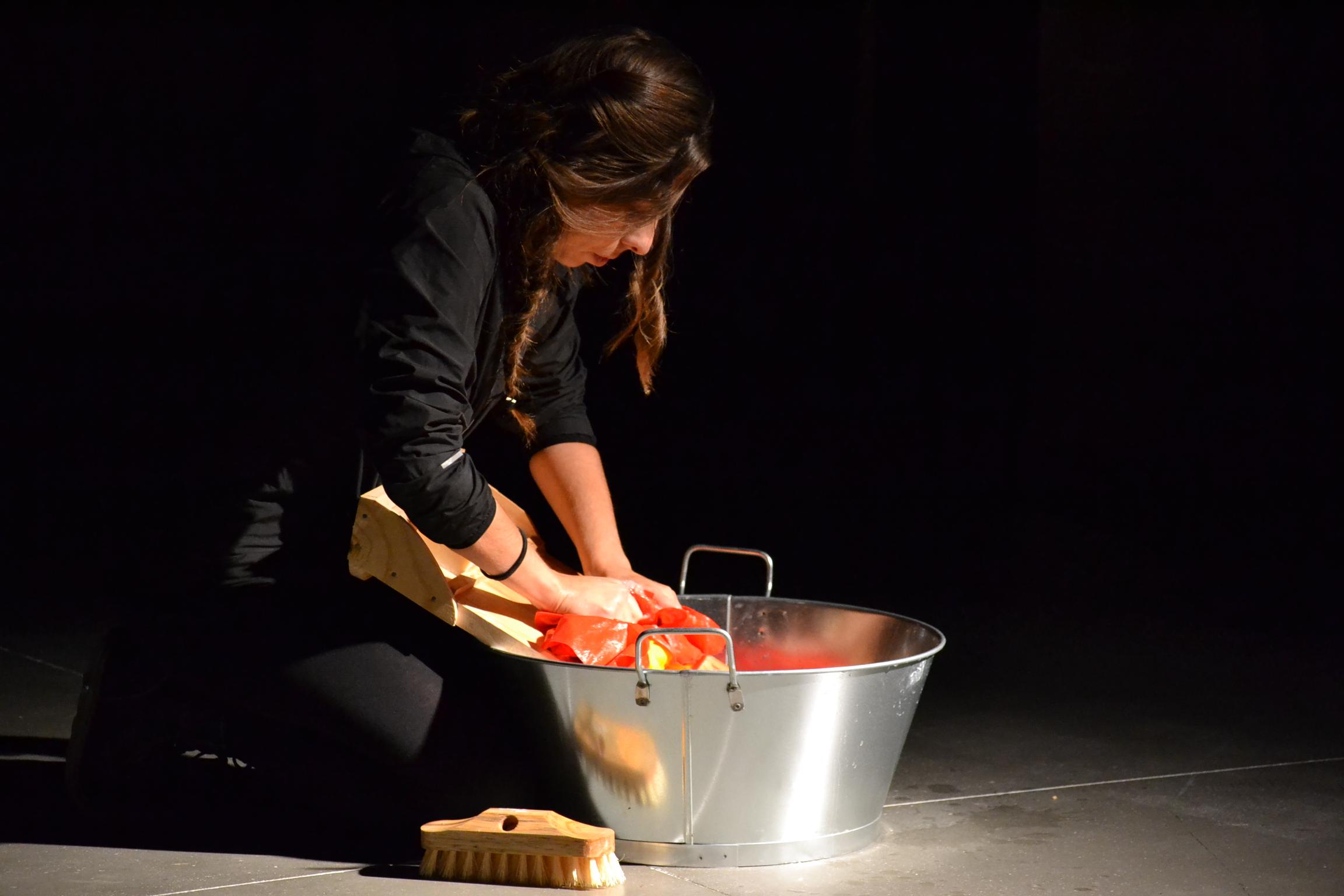 Wash Lies All (2014)/ACCION!MAD Encuentro Internacional de Arte de Acción exhibition at Matadero Madrid, Spain