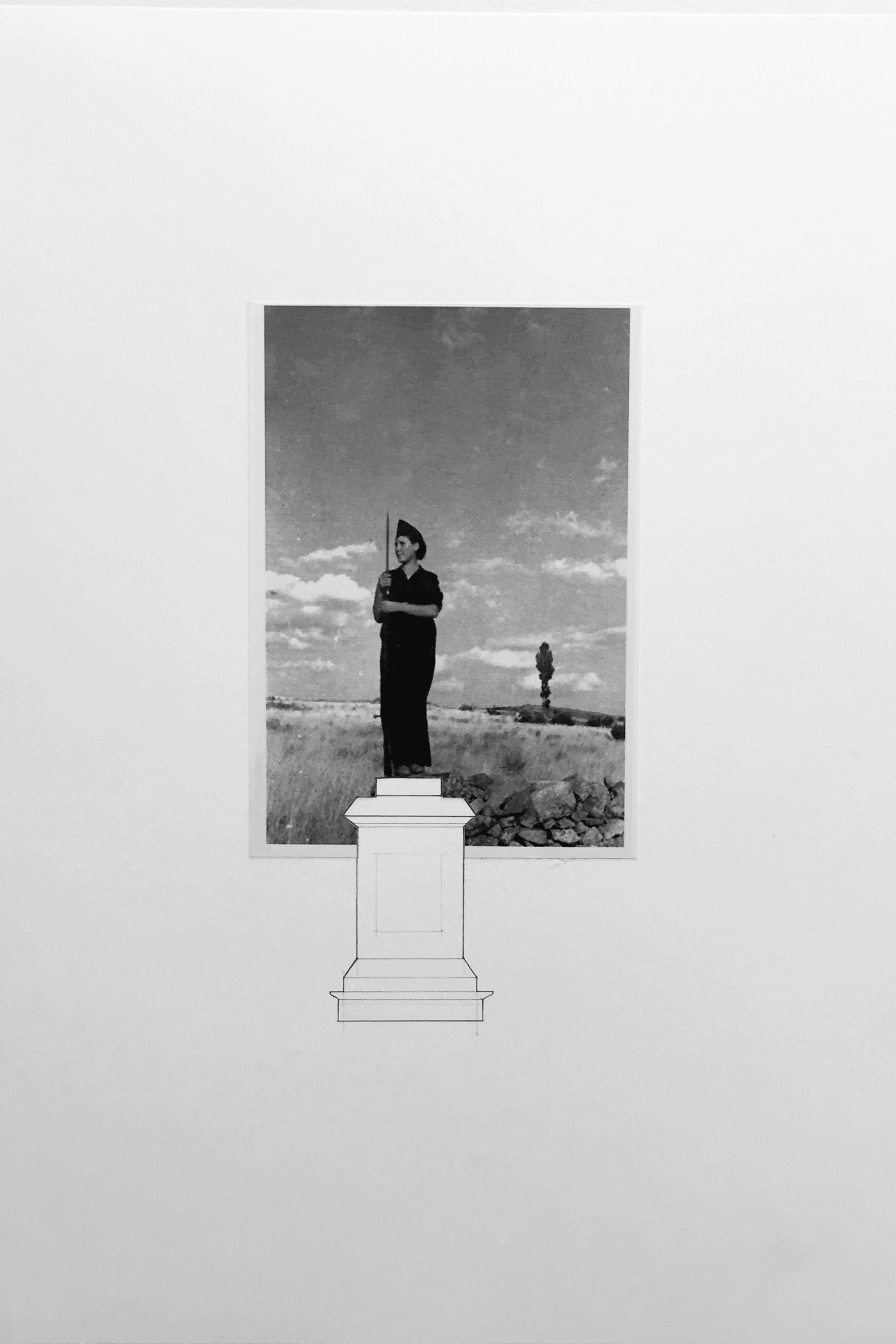 Infrastructure of Counter-History 04 (2017)/ Photography and graphite