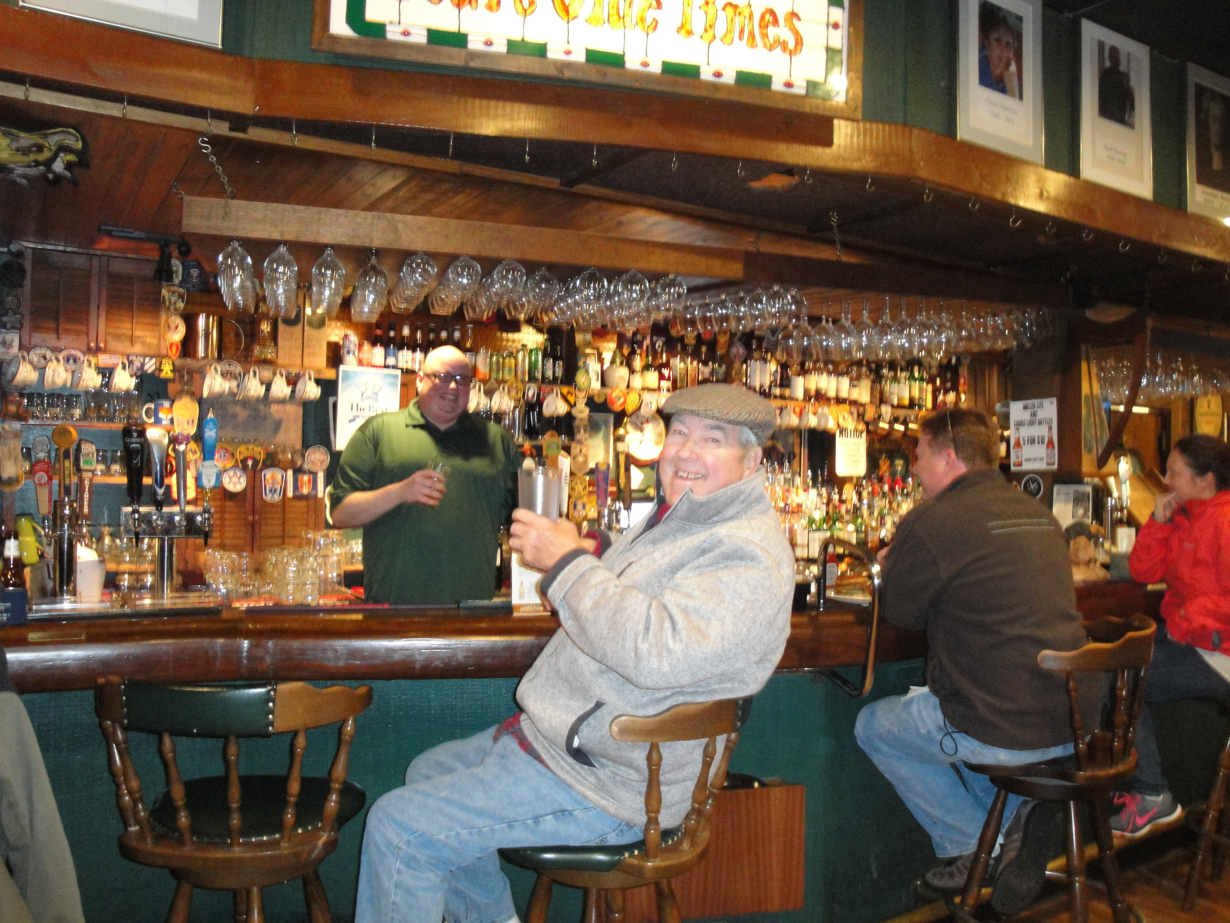 Jim Worsham enjoying a Bourbon and ginger at Rare Olde Times in Richmond, VA.JPG