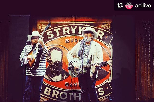 #Repost @acllive ・・・ A very special appearance from the @strykerbrothers to start the night! 📷: @alisonnarro