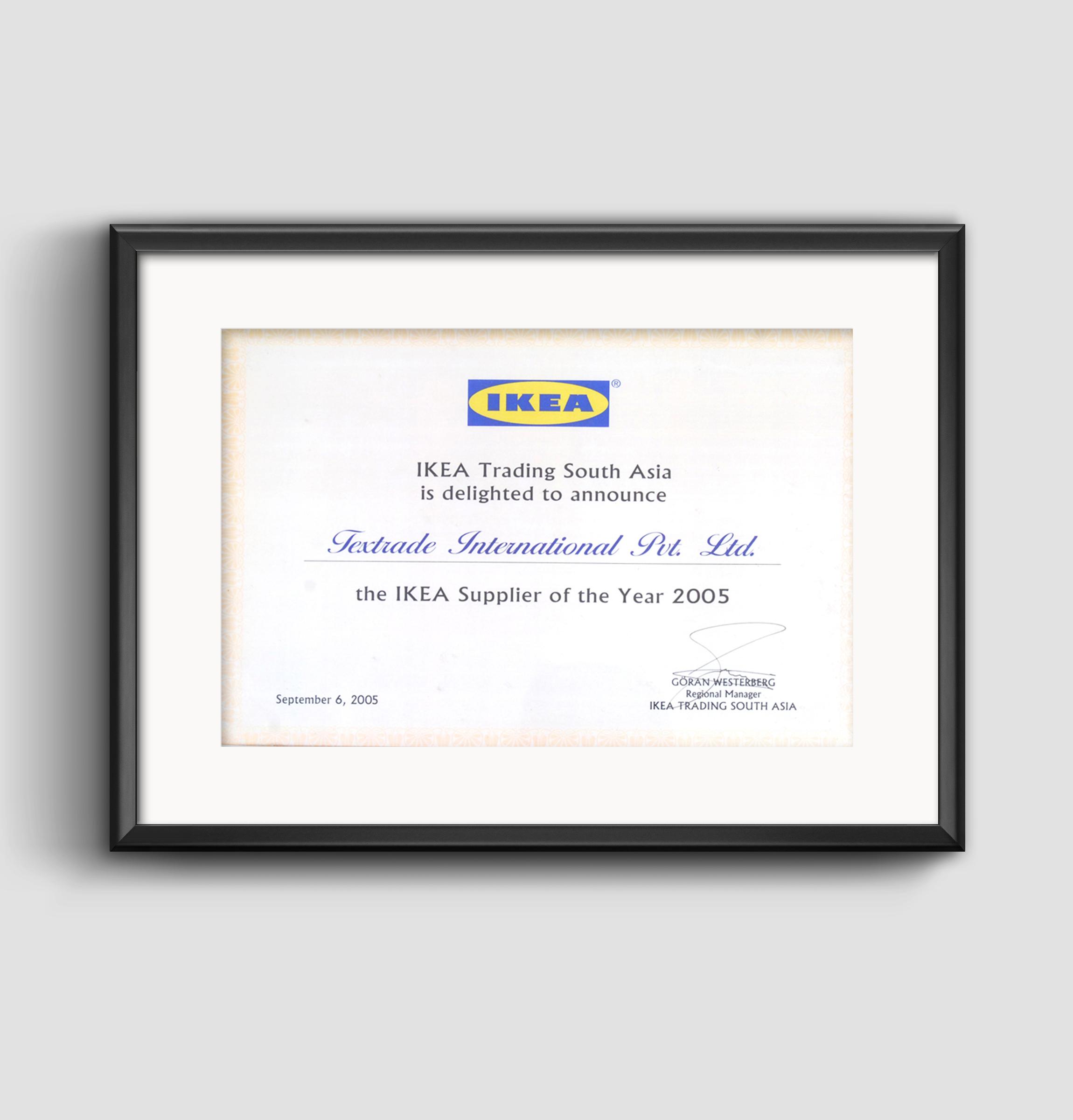 IKEA Supplier of Year Award