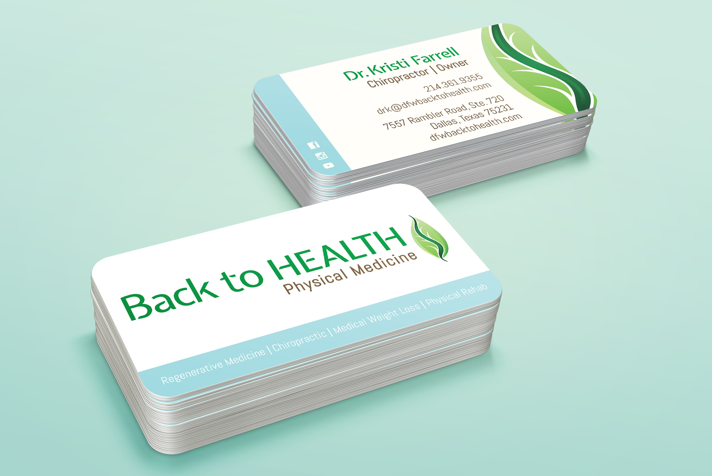 Back to Health Business Cards