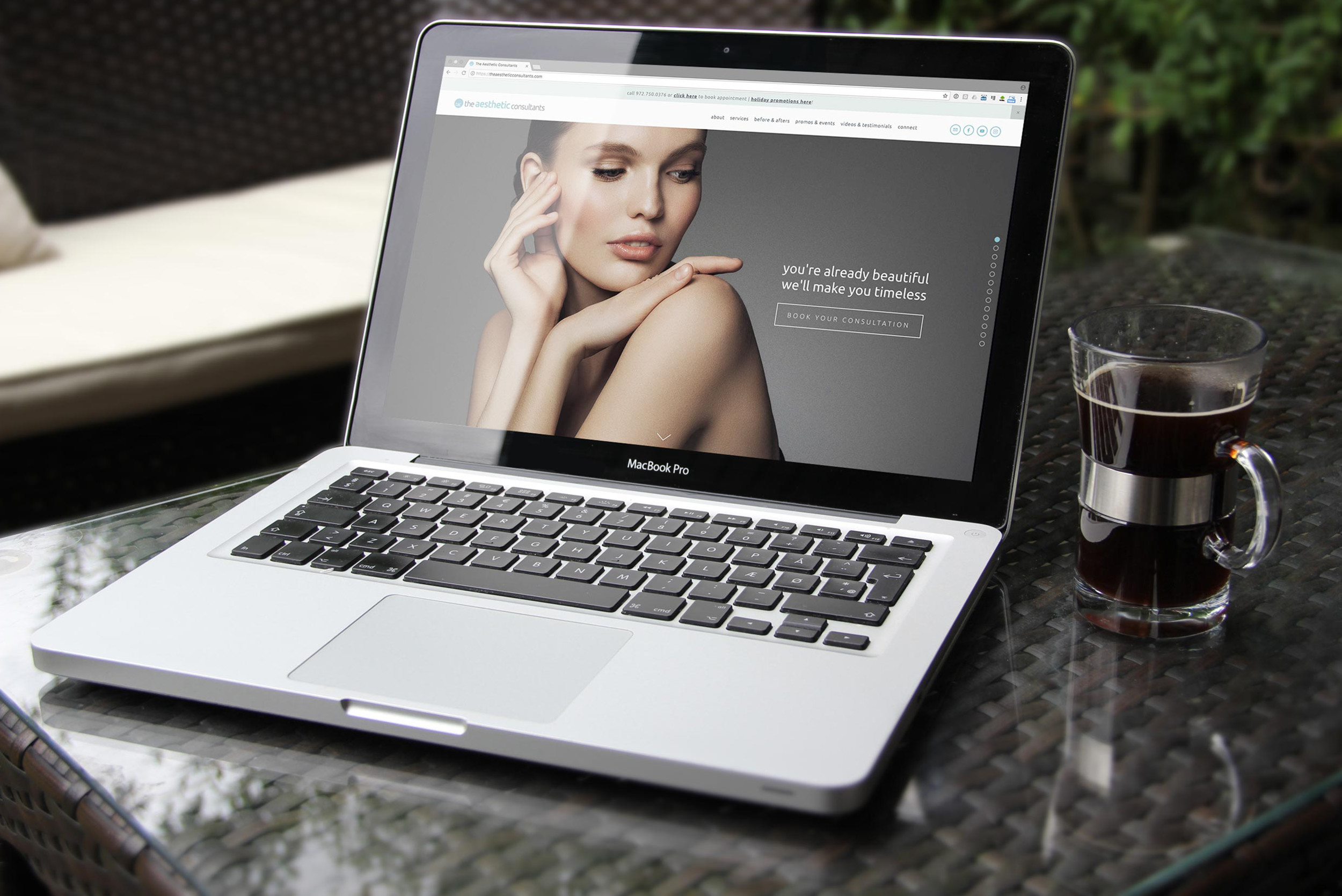 The Aesthetic Consultants Website Design