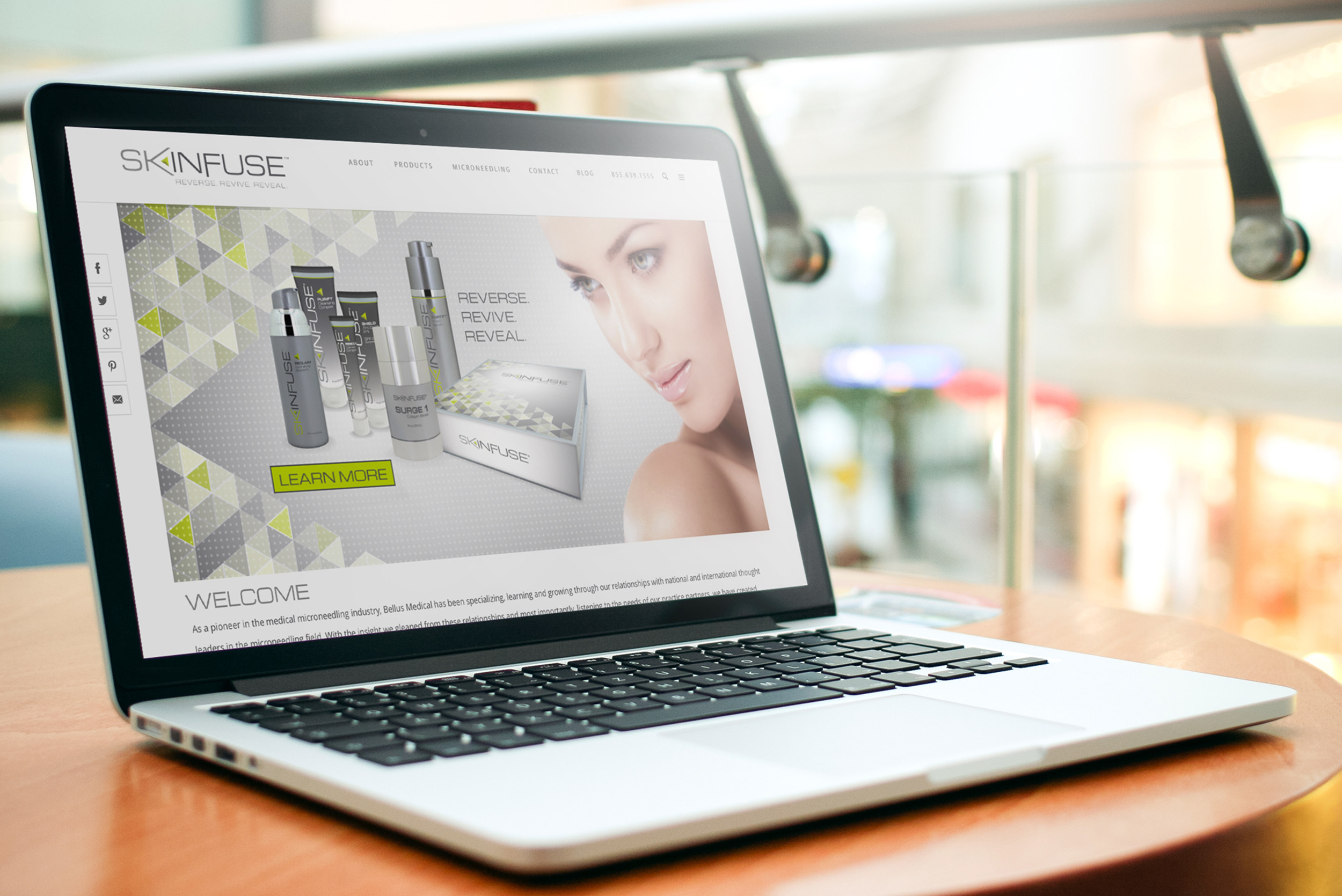 Skinfuse Skincare Website Design