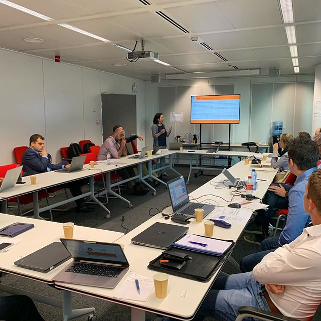 Digging into the pilot site activities during the mid-term review! Good feedback from the reviewers and looking forward to the second half of the project #h2020 #energyefficiency #researchproject #euresearch 🍃