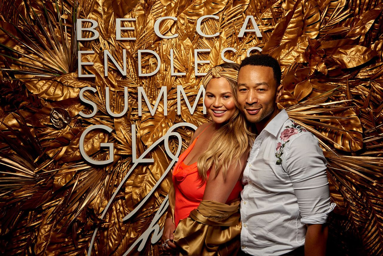 Becca Cosmetics Endless Summer Glow Event with Chrissy Teigen