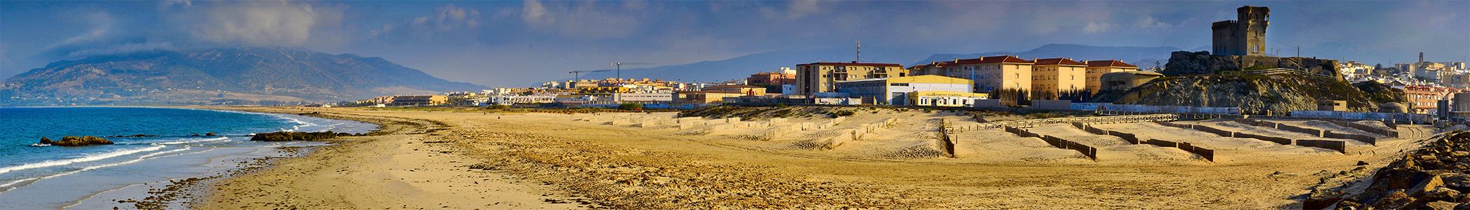 Tarifa in Southern Spain is just across from Tangiers in Morocco…