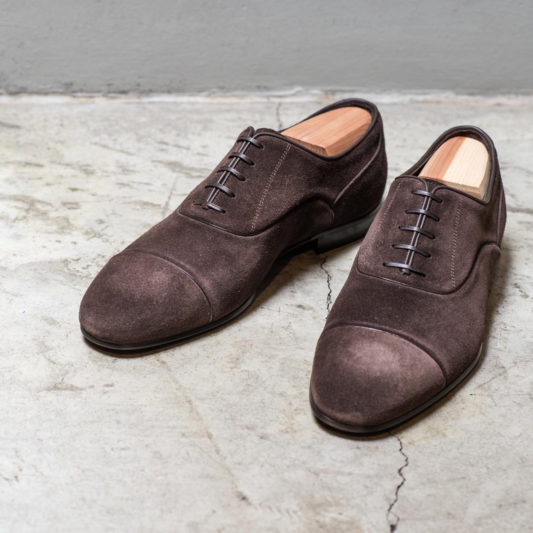 SHOE    2800 Sek   Suede Oxford shoe, goodyear