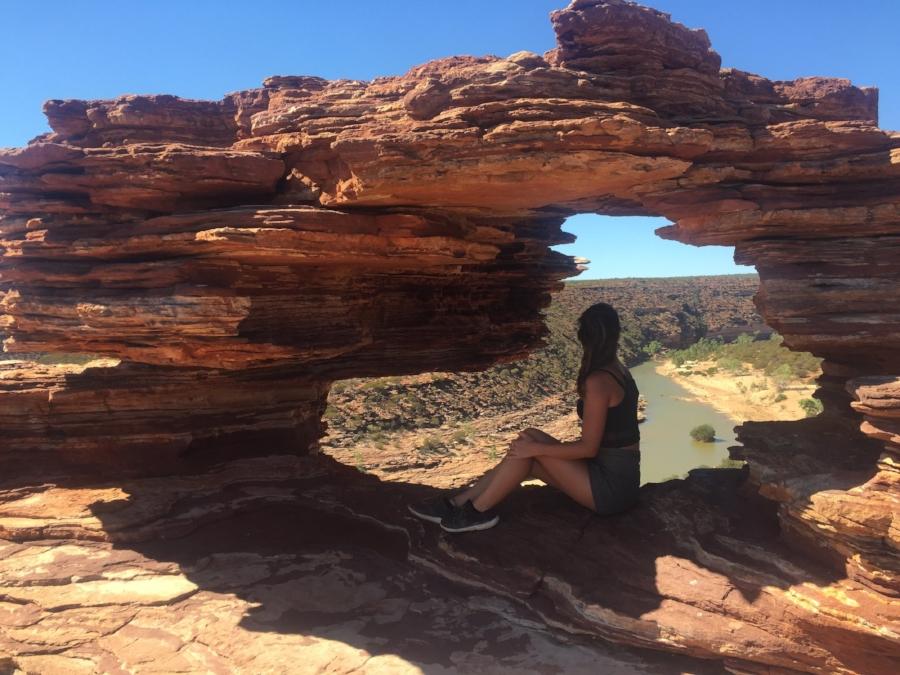 (The Natural Window - Kalbarri National Park)