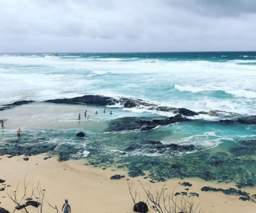 (Champagne Pool - Fraser Island)