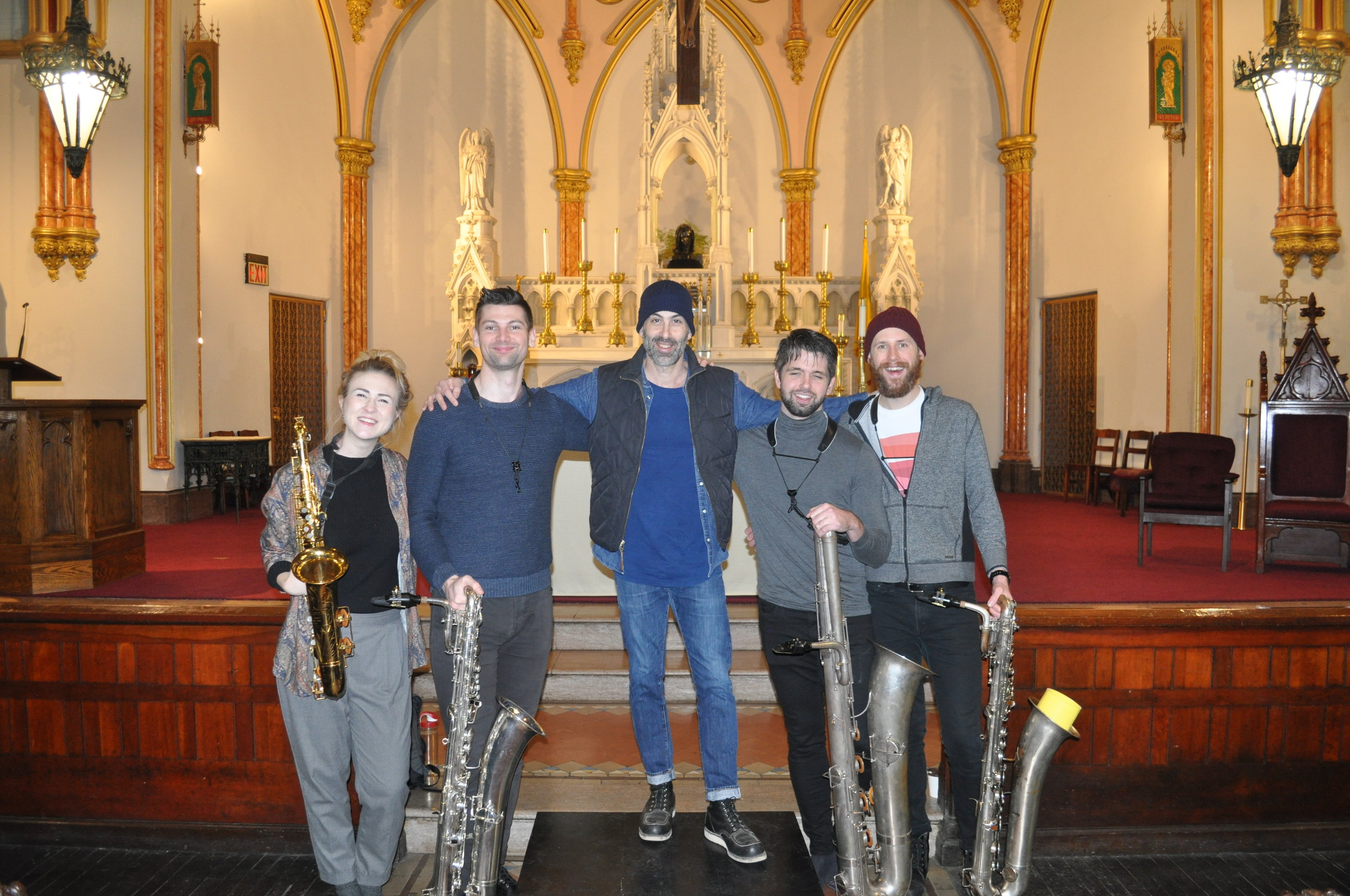 First rehearsal, February 2018