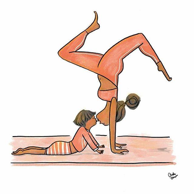 Mums & Movers Yoga is on tomorrow from 1-2pm at the Sports Pavilion (located behind Everyone Active in Cambourne). No handstands required 🙃 . We'll also be running several Family Yoga sessions during the upcoming April holiday. If you're interested, please get in touch! °°°°°°°° Artwork by @chelslarss  #yoga #postpartumyoga #postpartumfitness #postnatalyoga #postnatal #postpartum #motherhood #cambourne #stneots #bourn #cambridgeshire #yogawithkids #familyyoga #artwork #illustration #yogaeverywhere